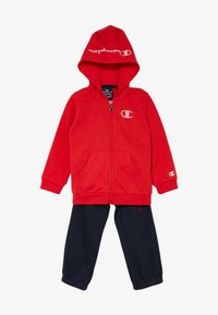 Champion - LEGACY AMERICAN CLASSICS HOODED FULL ZIP SUIT SET - Tracksuit - red/dark blue - 6
