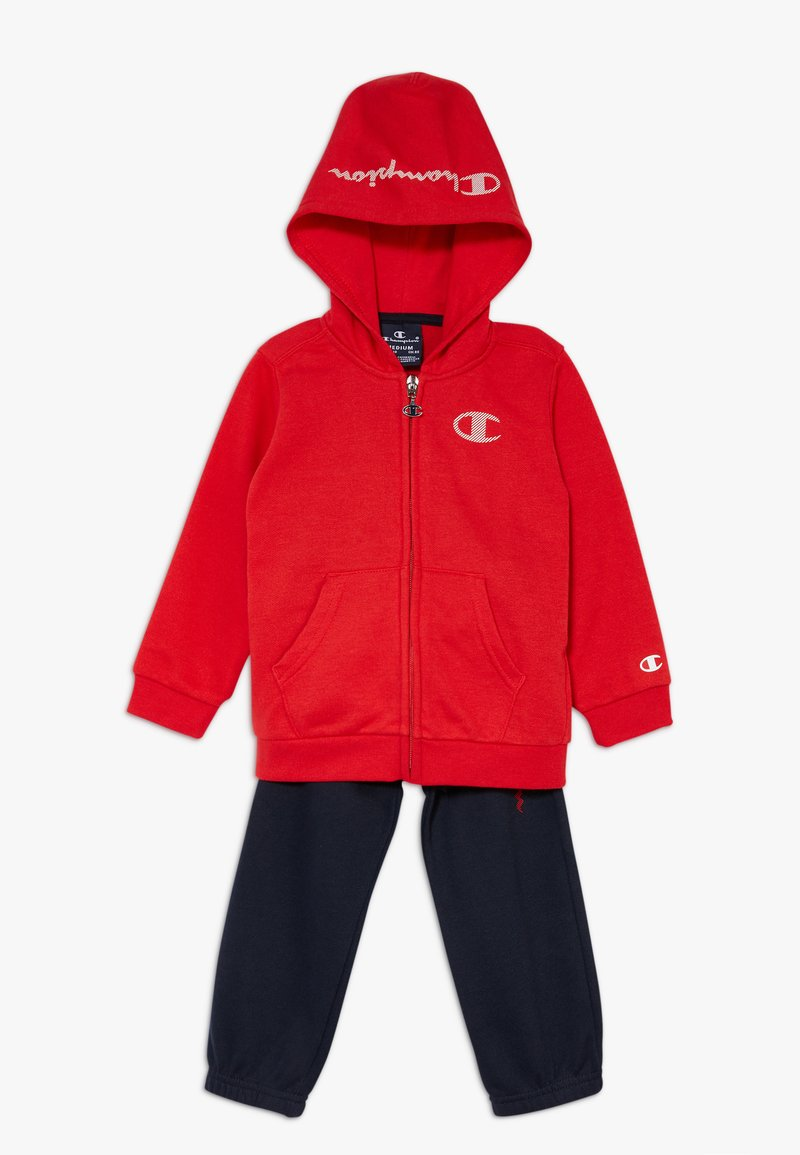 Champion - LEGACY AMERICAN CLASSICS HOODED FULL ZIP SUIT SET - Tracksuit - red/dark blue