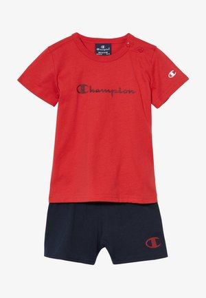 CHAMPION X ZALANDO TODDLER SUMMER SET - Krótkie spodenki sportowe - red/dark blue