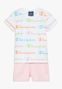 Champion - CHAMPION X ZALANDO TODDLER SUMMER SET - Sports shorts - white/multi-coloured/light pink - 0