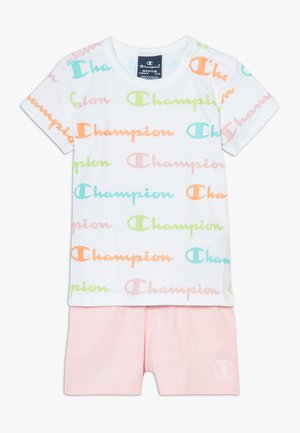 CHAMPION X ZALANDO TODDLER SUMMER SET - Sportovní kraťasy - white/multi-coloured/light pink