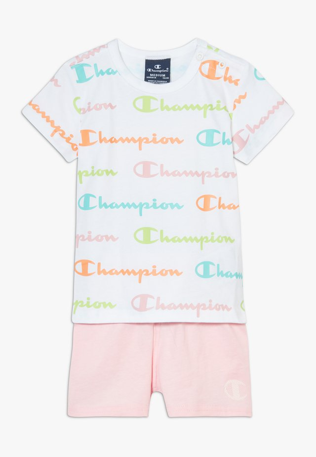CHAMPION X ZALANDO TODDLER SUMMER SET - Korte sportsbukser - white/multi-coloured/light pink