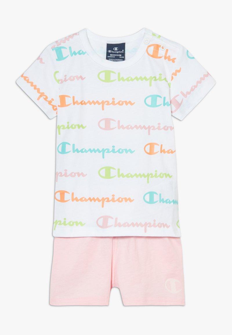 Champion - CHAMPION X ZALANDO TODDLER SUMMER SET - Sports shorts - white/multi-coloured/light pink
