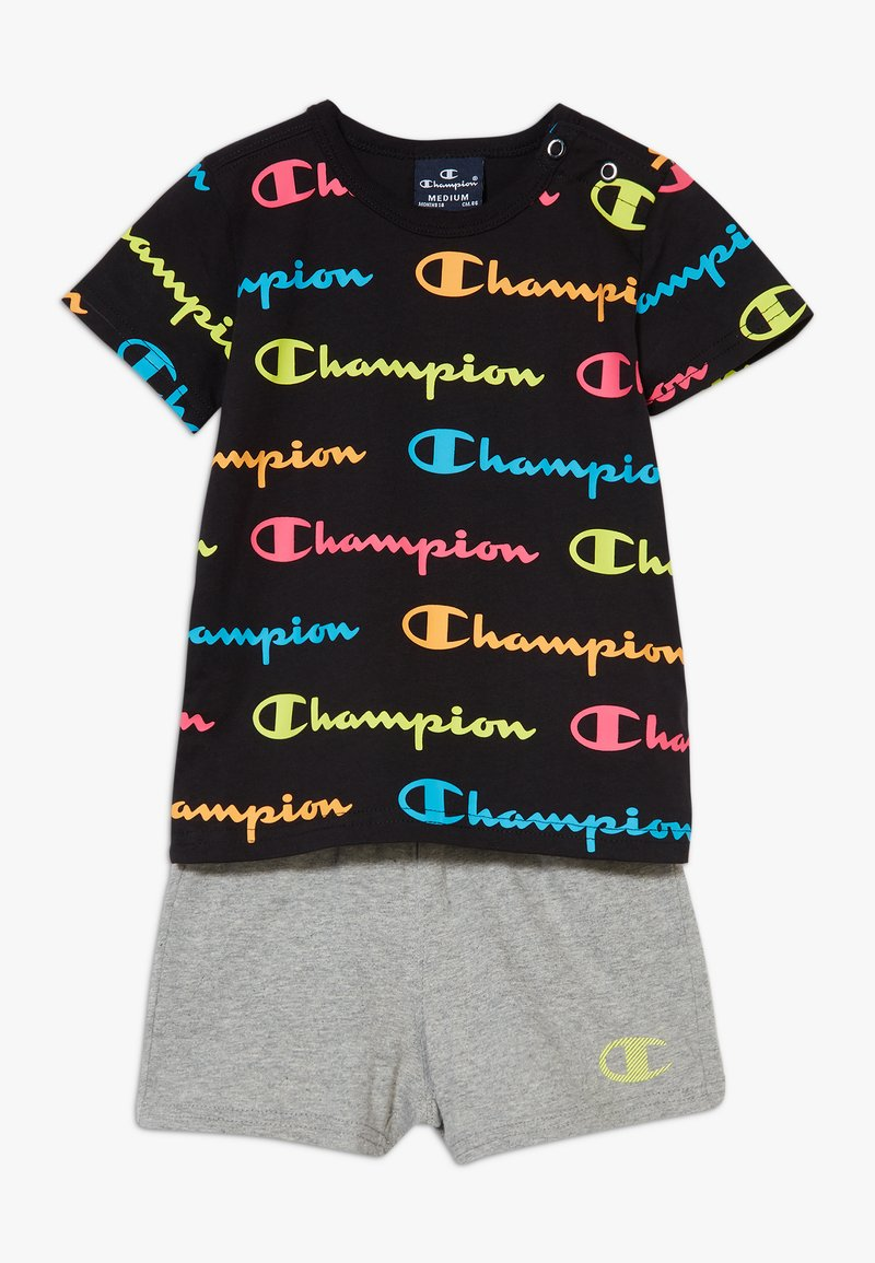 Champion - CHAMPION X ZALANDO TODDLER SUMMER SET - Short de sport - black/multi-coloured/mottled grey