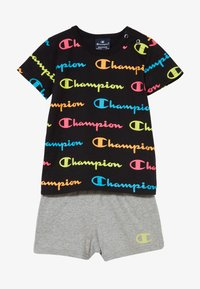 Champion - CHAMPION X ZALANDO TODDLER SUMMER SET - Short de sport - black/multi-coloured/mottled grey - 3