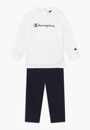 CHAMPION X ZALANDO TODDLER SET - Verryttelypuku - white/dark blue