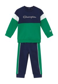 Champion - TODDLER COLORBLOCK SET - Trainingspak - dark blue/green/white - 2