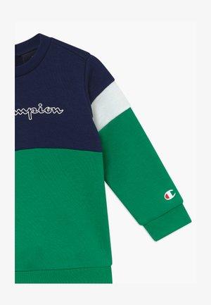 TODDLER COLORBLOCK SET - Tepláková souprava - dark blue/green/white