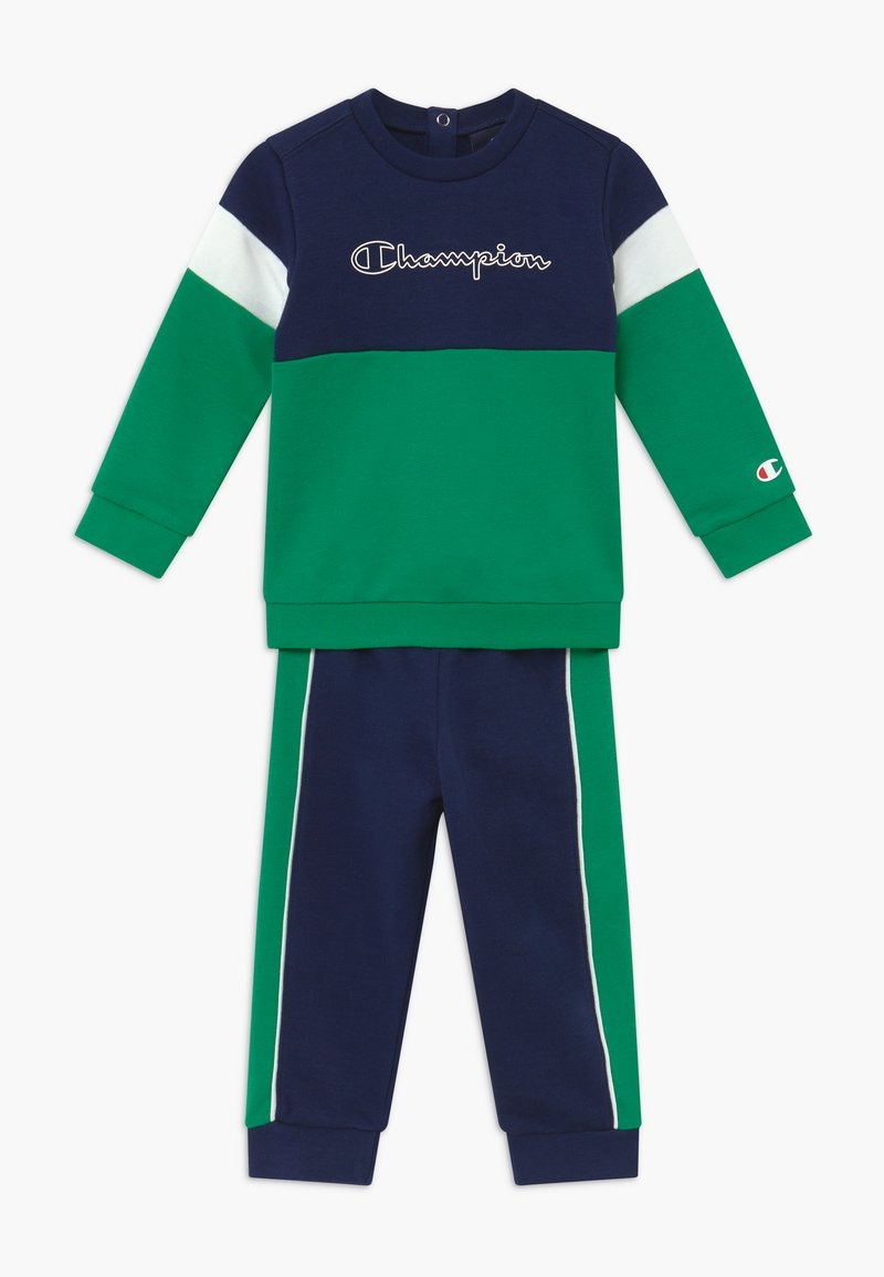 Champion - TODDLER COLORBLOCK SET - Trainingspak - dark blue/green/white