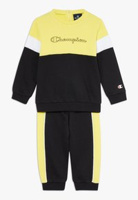 Champion - TODDLER COLORBLOCK SET - Tepláková souprava - black/yellow/white - 0