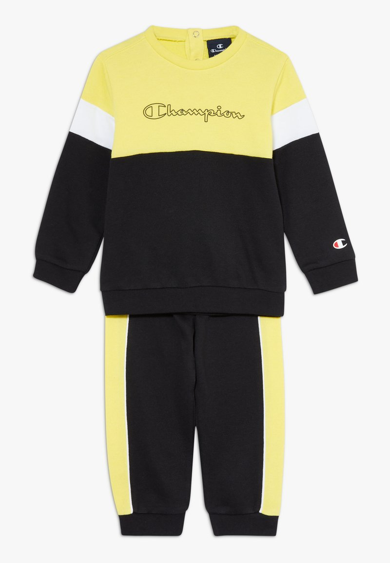 Champion - TODDLER COLORBLOCK SET - Tepláková souprava - black/yellow/white