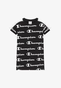 Champion - LEGACY AMERICAN CLASSICS - Jersey dress - black/white - 2