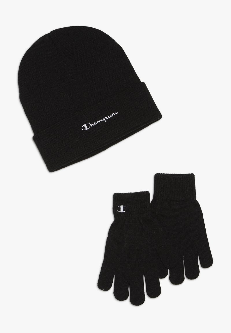 Champion - BEANIE GLOVES SET  - Rukavice - black