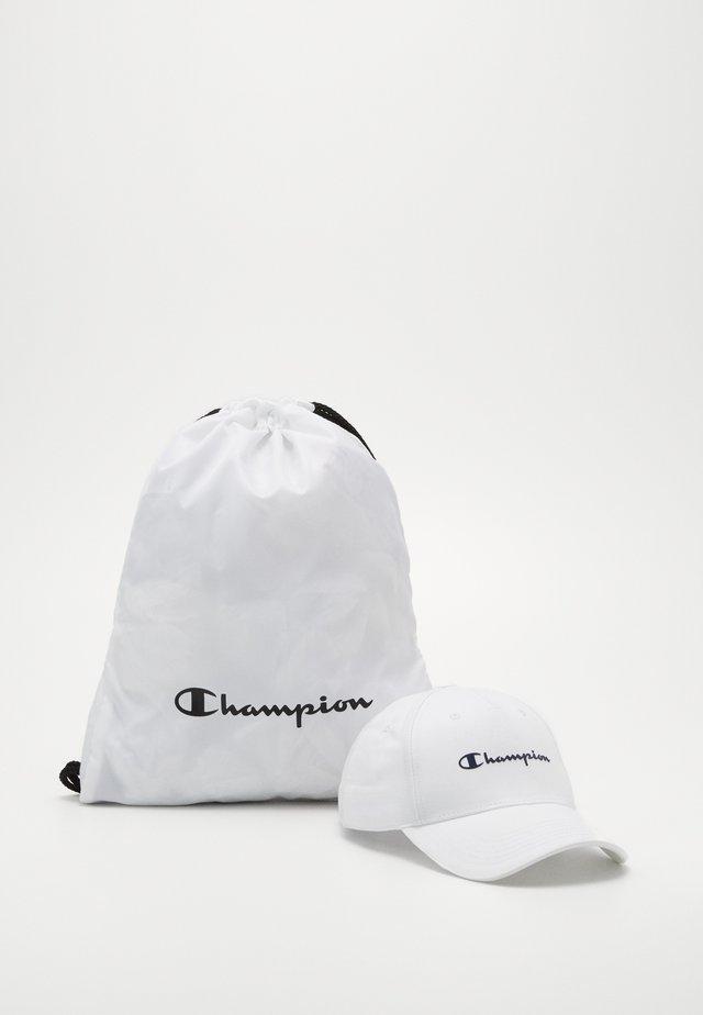 GIFTSET GYMBAG + CAP SET - Urheilulaukku - white/white