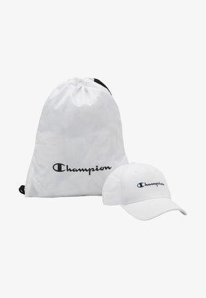 GIFTSET GYMBAG + CAP SET - Drawstring sports bag - white/white