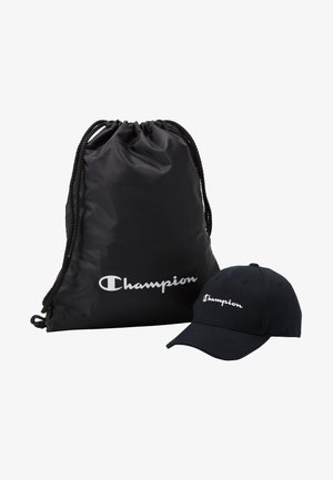 GIFTSET GYMBAG + CAP SET - Drawstring sports bag - black