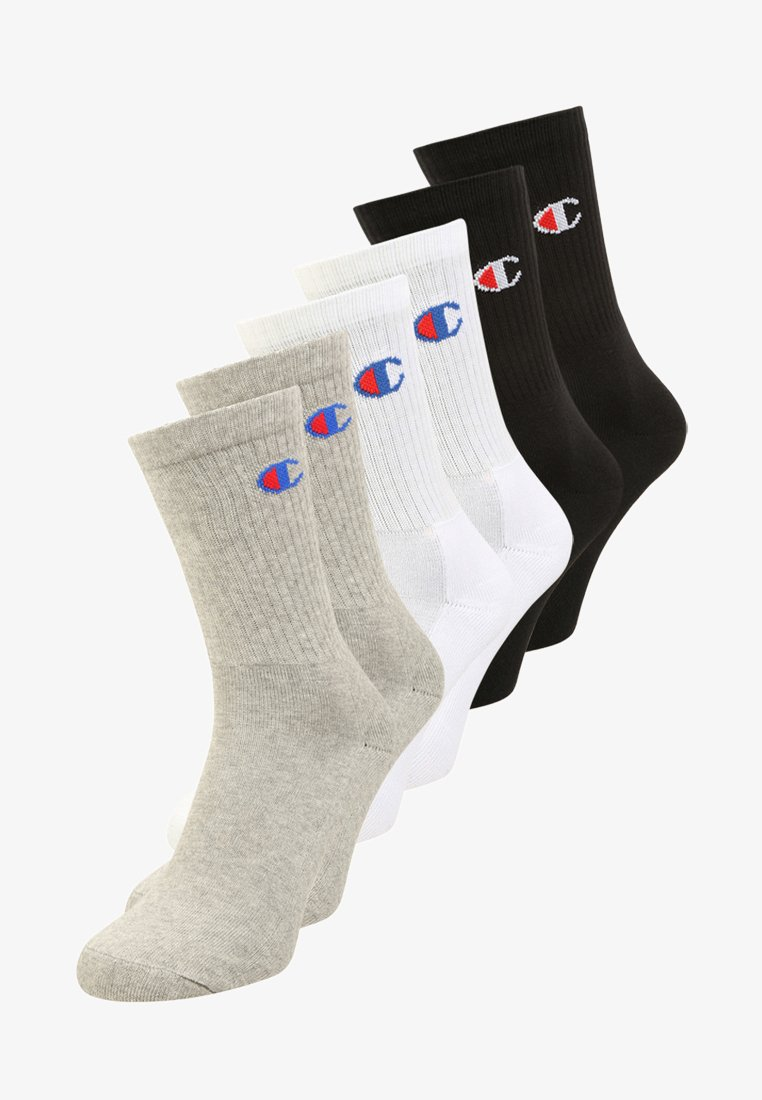 Champion - 6 PACK - Sports socks - oxford grey/white/natural black