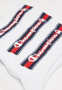 Champion - EURO TAPE CREW SOCKS 3 PACK - Sports socks - white - 2