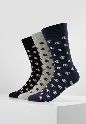 CASUAL SOCKS REPEAT LOGO 3 PACK - Calze sportive - navy/grey/ black