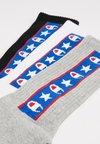 Champion - JAPAN TAPE CREW 3 PACK - Sports socks - black/white/grey