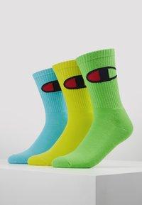 Champion - CREW SOCKS BIG LOGO 3 PACK - Chaussettes de sport - light green/yellow - 0