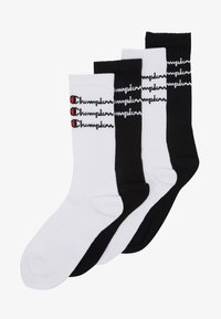 Champion - SCRIPT CREW 4 PACK - Calcetines de deporte - white/black - 1
