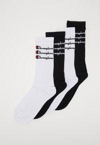 Champion - SCRIPT CREW 4 PACK - Calcetines de deporte - white/black - 0