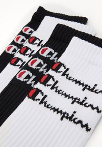 Champion - SCRIPT CREW 4 PACK - Calcetines de deporte - white/black - 2