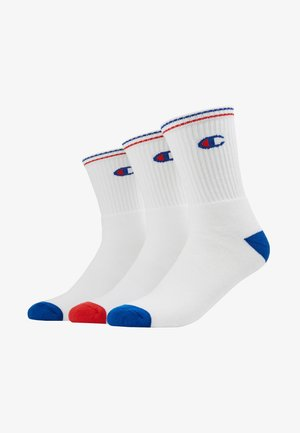 CREW PERFORMANCE - Chaussettes - white/blue/red
