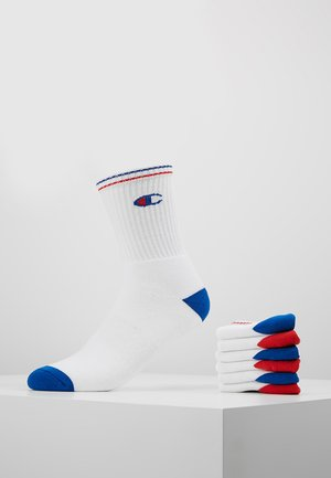 6 PACK CREW PERFORMANCE - Calcetines - white/blue/red