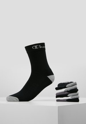 CREW SOCKS PERFORMANCE 6 PACK - Ponožky - black/white/dark grey