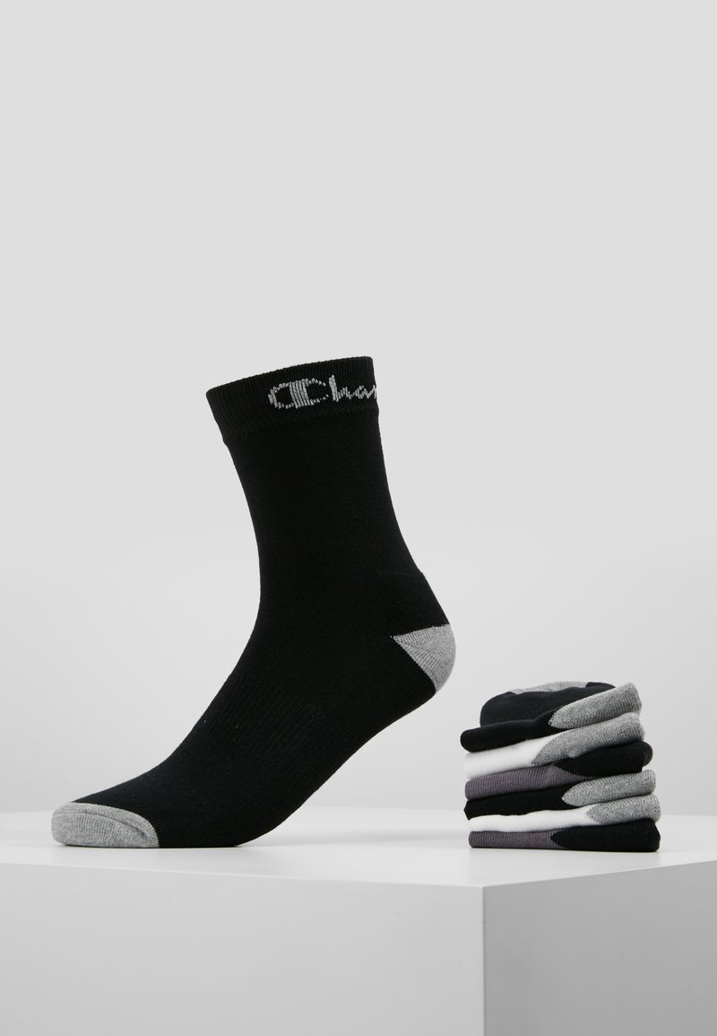 Champion - CREW SOCKS PERFORMANCE 6 PACK - Calze - black/white/dark grey