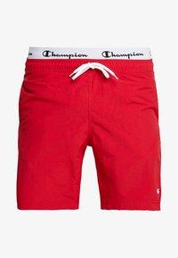 Champion - BEACH - Shorts da mare - red/black - 2