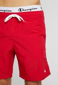 Champion - BEACH - Shorts da mare - red/black - 3