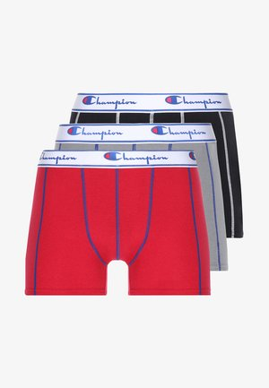 BOXER 3 PACK - Culotte - black/grey/red