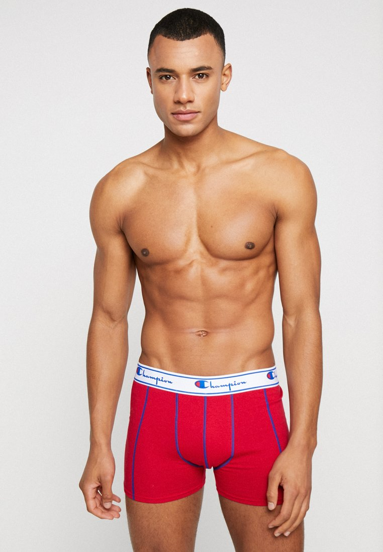 Champion - BOXER 3 PACK - Culotte - black/grey/red