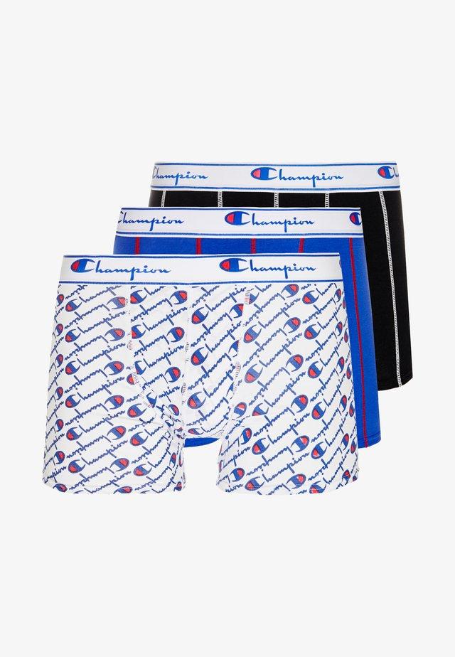 3 PACK - Pants - white/blue/black
