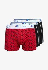 Champion - 3 PACK - Pants - black/red logo - 3