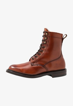 SCOTT - Lace-up ankle boots - dark leaf