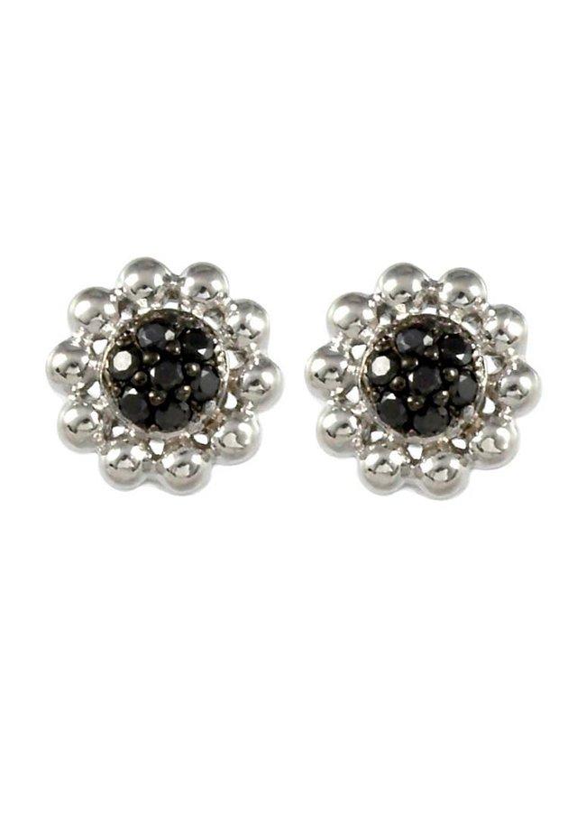 Earrings - silberfarben/schwarz