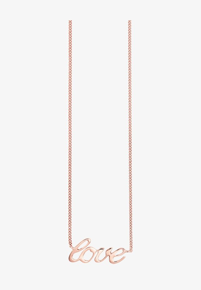 Necklace - rose-colored