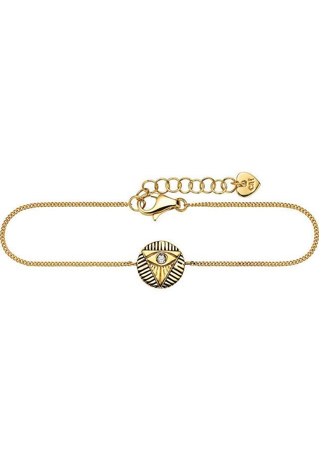 CAÏ DAMEN-ARMBAND LOVE 925ER SILBER - Armband - gold