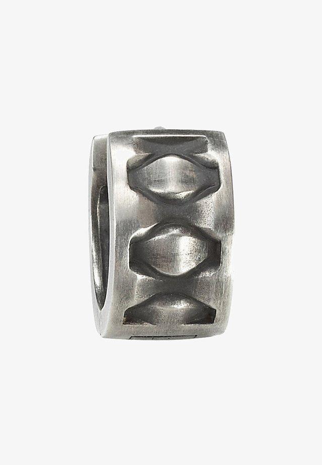 Earrings - silver-coloured/black