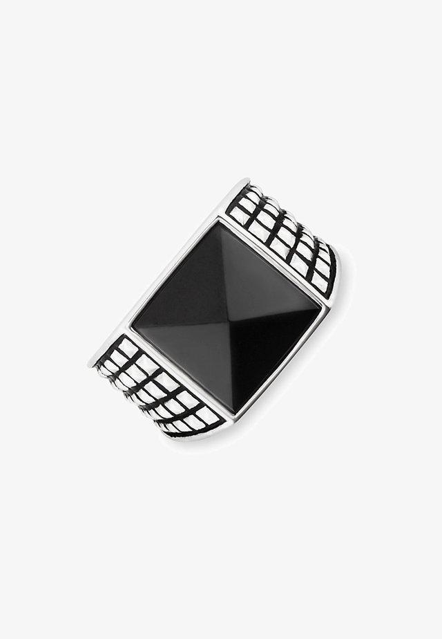 Ring - silber/schwarz