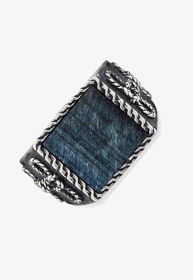 Ring - silber/blau