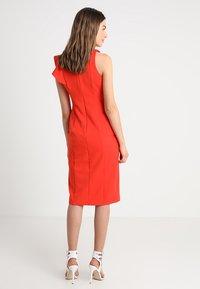Coast - KARLY RUFFLE SHIFT DRESS - Shift dress - tomato - 3