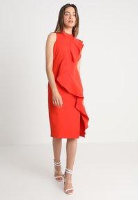 Coast - KARLY RUFFLE SHIFT DRESS - Shift dress - tomato - 2