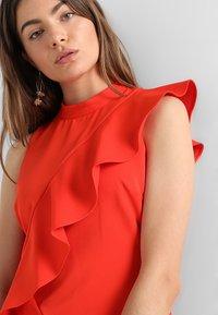 Coast - KARLY RUFFLE SHIFT DRESS - Shift dress - tomato - 5