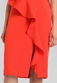 Coast - KARLY RUFFLE SHIFT DRESS - Shift dress - tomato - 7