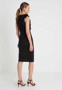 Coast - WOW CORSAGE MONO SHIFT - Shift dress - black - 3
